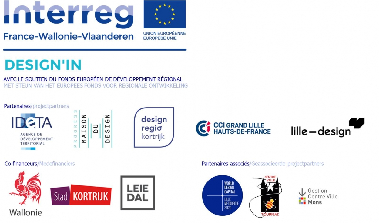 Design In logos partners en ondersteuning
